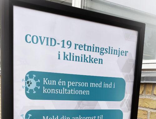 Covid-19 retningslinjer i klinikken